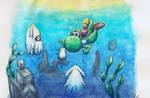 Diving Yoshi