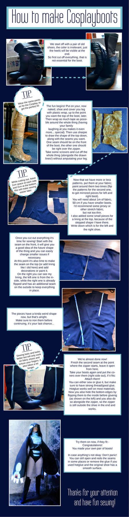 Cosplay Boots Tutorial by Cita-la-Star