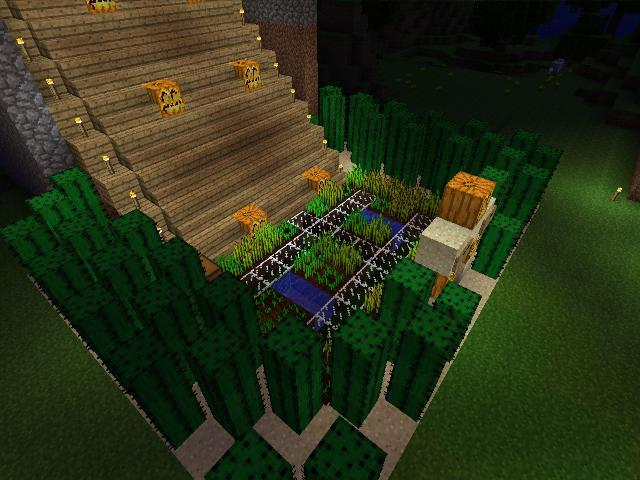 how to make a garden in minecraft xbox 360