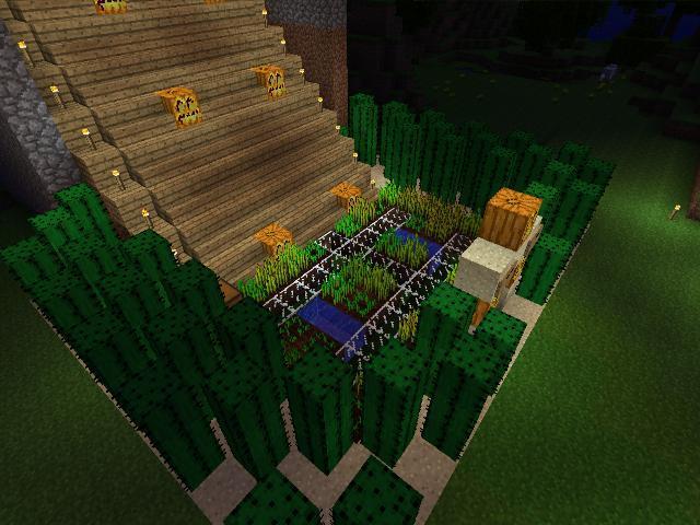 Xbox 360 Minecraft House Garden By Kerek12 On Deviantart