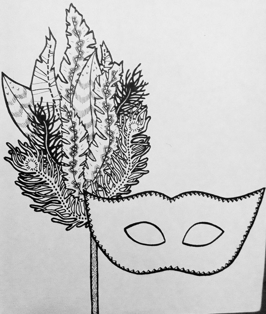 mardi gras mask bw by bannonyoung on DeviantArt