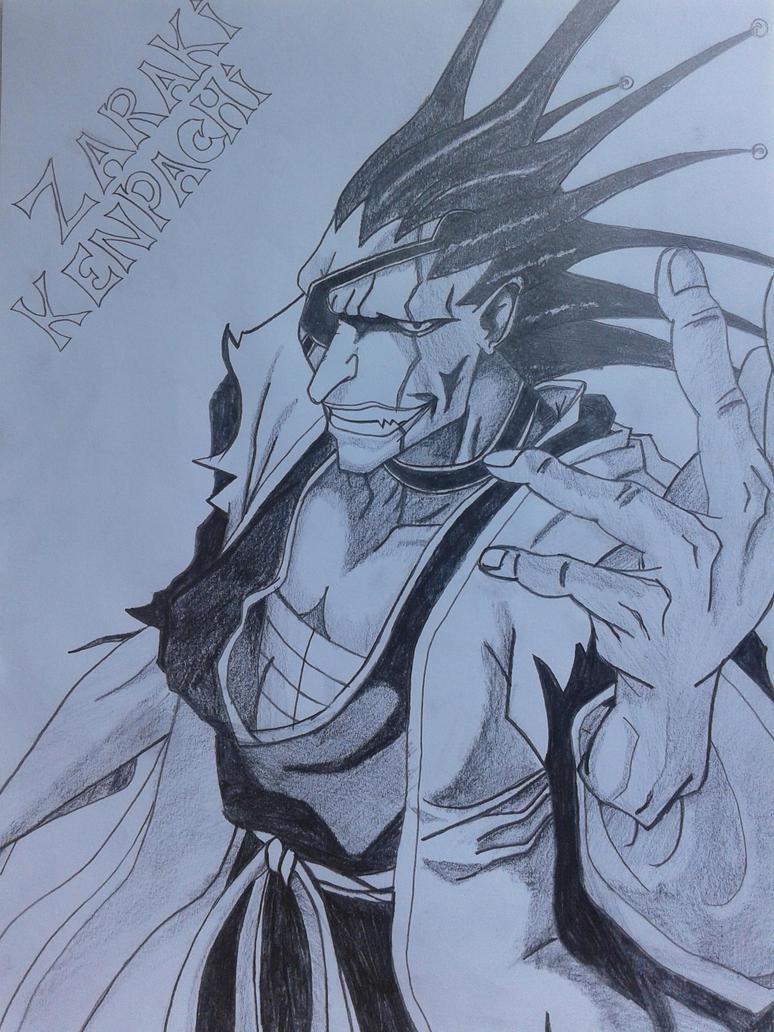 Bleach 11th Captain Zaraki Kenpachi By Weedle Art