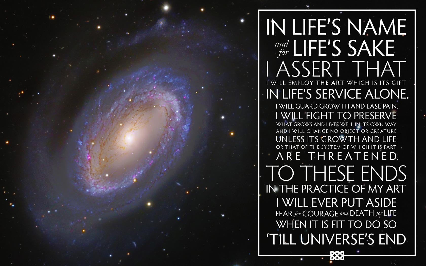Wizard's Oath: NGC 4725 by DawnPaladin