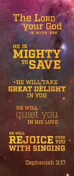 Zephaniah 3:17 bookmark