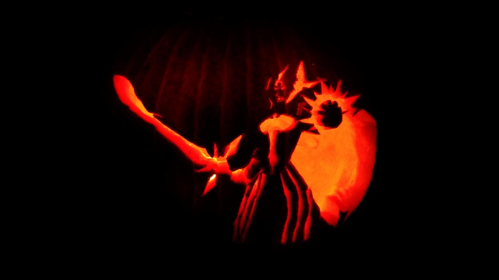 Leona pumpkin by DawnPaladin