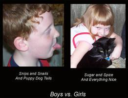 Boys vs Girls by Dark0Goddess