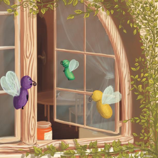 Flies in the window by ArtAnda
