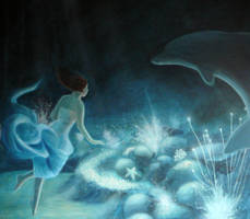 Girl who swam with dolphins II by Ansheen