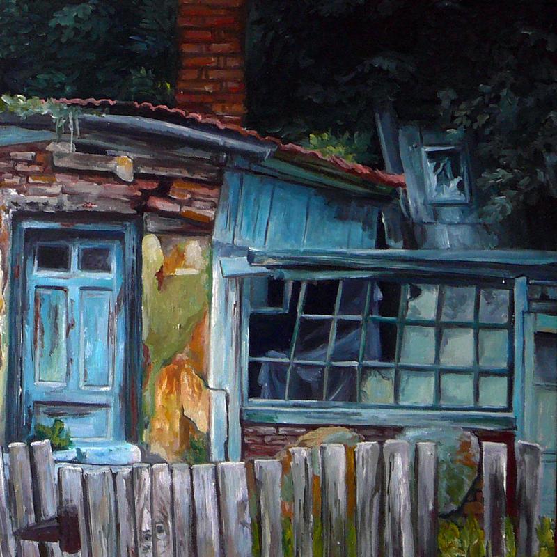 Abandoned II in oils by ArtAnda