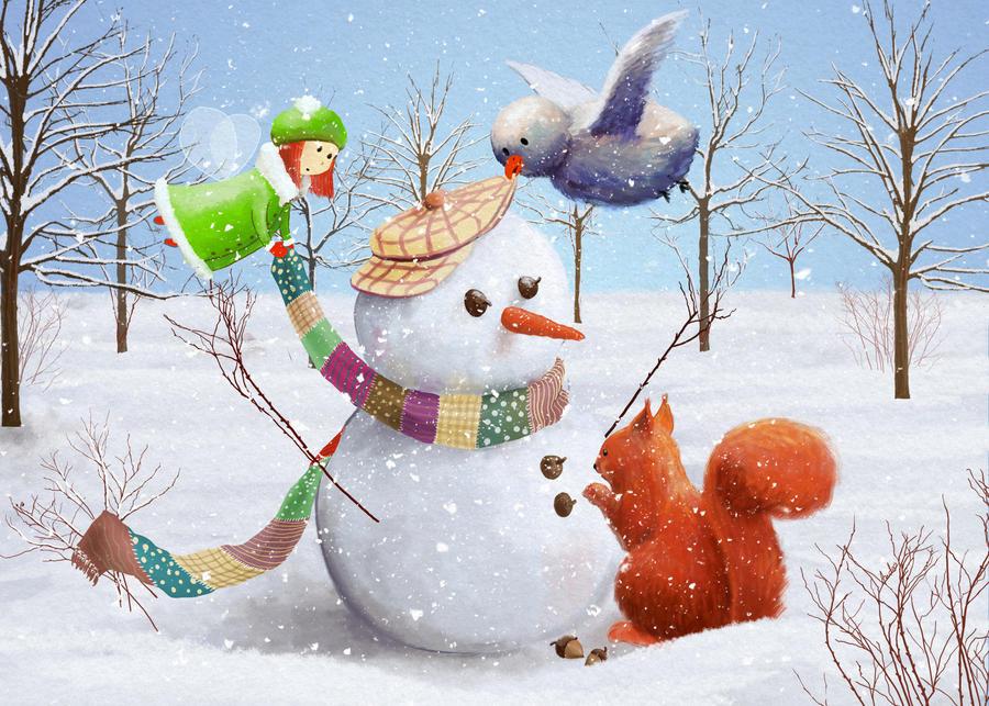 Snowman by ArtAnda