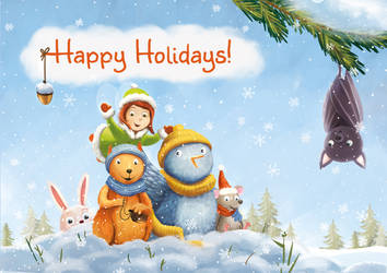 Happy holidays! Greeting card by Ansheen