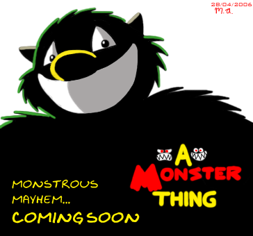 A Monster Thing promo poster by BluebottleFlyer