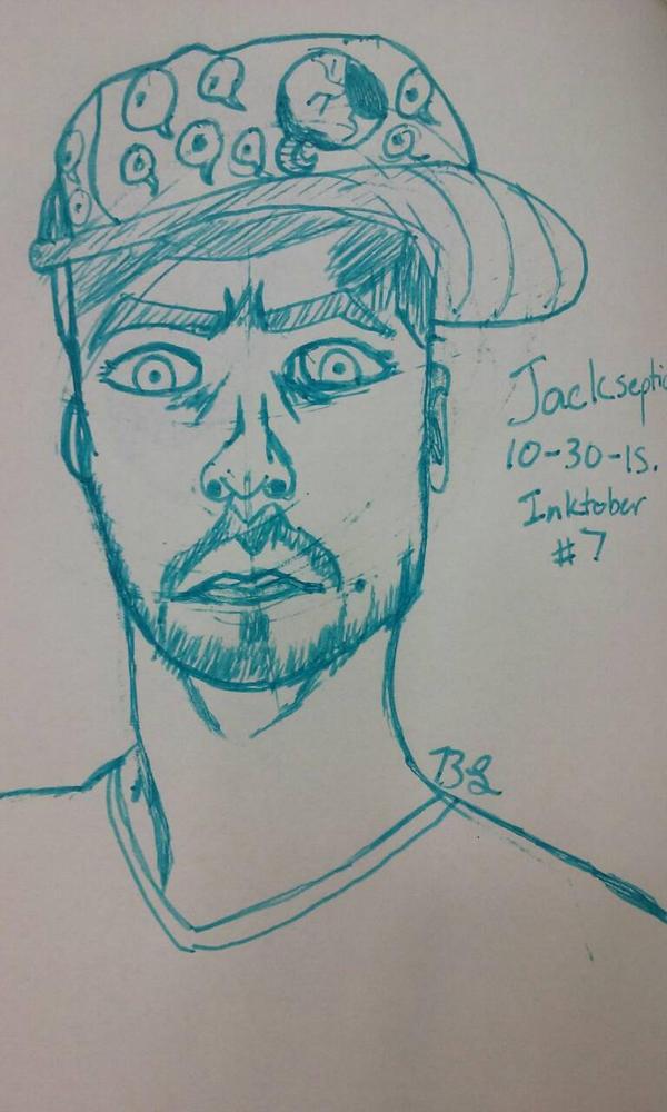 Inktober #7: Jacksepticeye!  by KaputheWolf