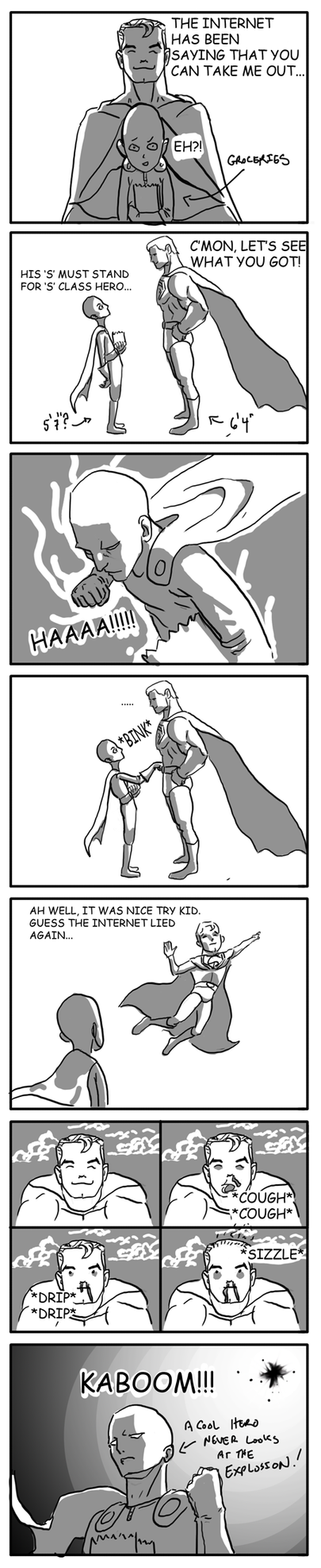 Onepunch man Vs Superman by antant