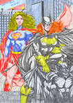 Supergirl and Batgirl in color 1