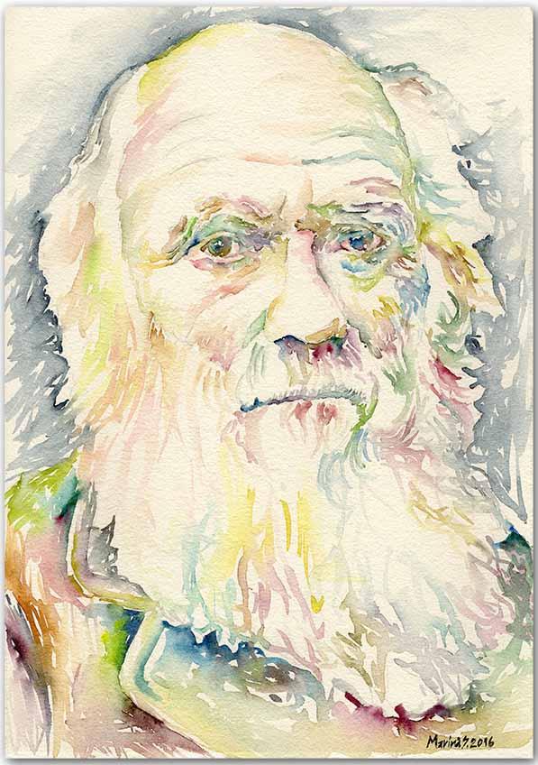 Charles Darwin by MarinaSotiriou