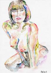 Nude Female Model (095) by MarinaSotiriou