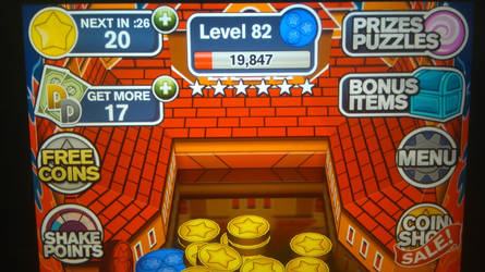 Reached Level 82 in Coin Dozer by TheTyrannosaurus
