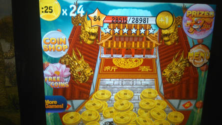 Reached Level 84 in Coin Dozer: World Tour by TheTyrannosaurus