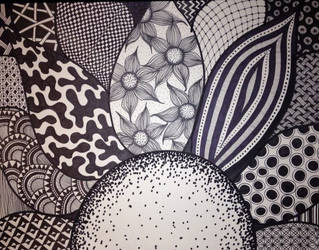 Zentangle Flower by Meredith Lee Terry by meredithterry