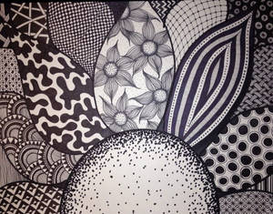 Zentangle Flower by Meredith Lee Terry