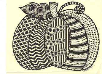 Zentangle Pumpkin by Meredith Lee Terry - Oct.'12 by meredithterry