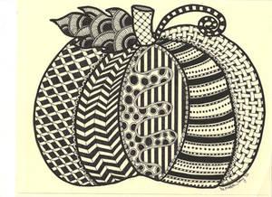 Zentangle Pumpkin by Meredith Lee Terry - Oct.'12