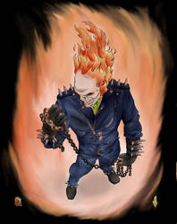Ghost Rider colored by diabol