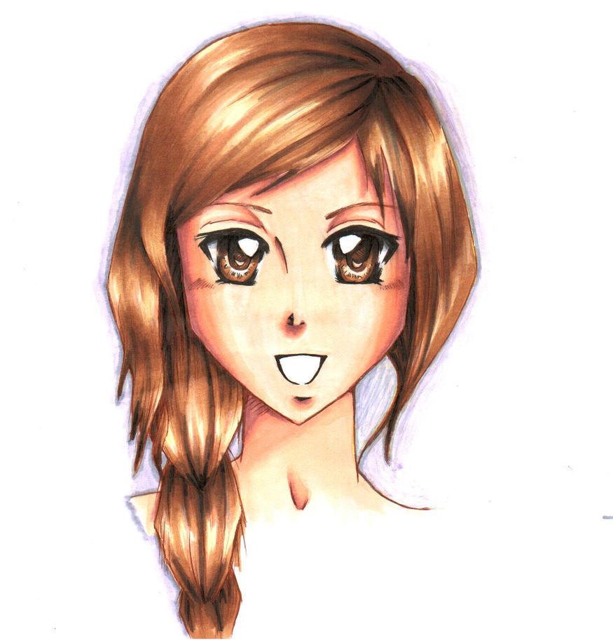 Manga Girl With Brown Hair By Thefallenshady On Deviantart