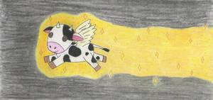 Airborne Bioluminescent Cow