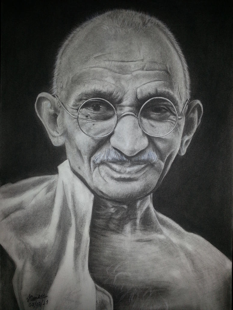 Mahatma Gandhi by igbeni