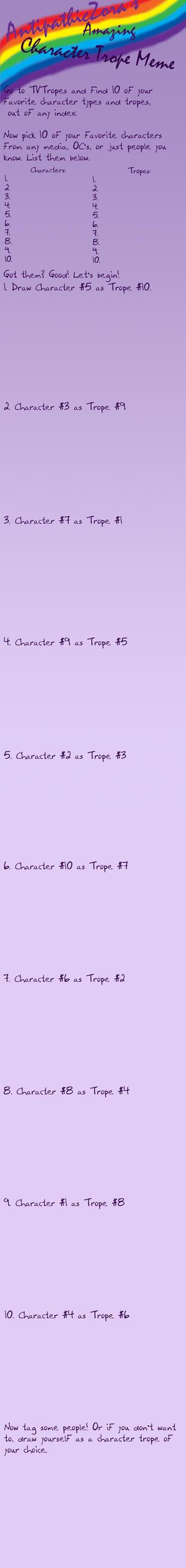 Character Trope Meme -Blank- by AntipathicZora
