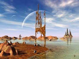Distant Shores I by gerberc