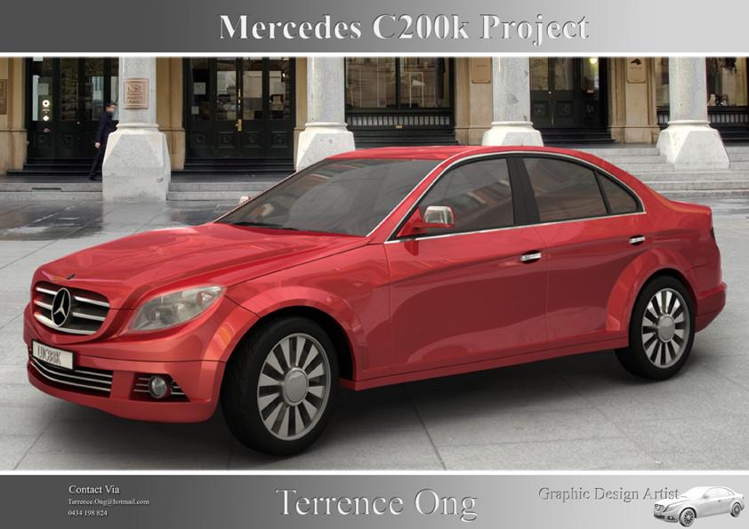 c200 kompressor mercedes in 3d by teville on deviantart. Black Bedroom Furniture Sets. Home Design Ideas