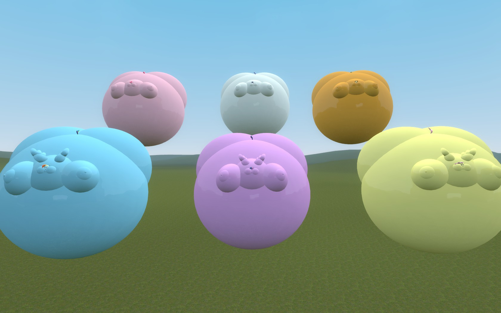 Floating Balloon Mane Six By Sonic5421 On DeviantArt