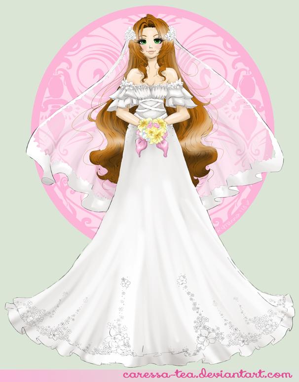 Final Fantasy Wedding: Aerith by caressa-tea