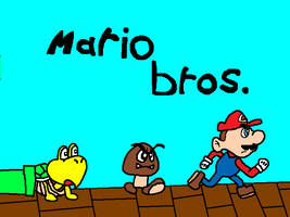 Mario Bros Commodore C64 - Title Screen Redrawn