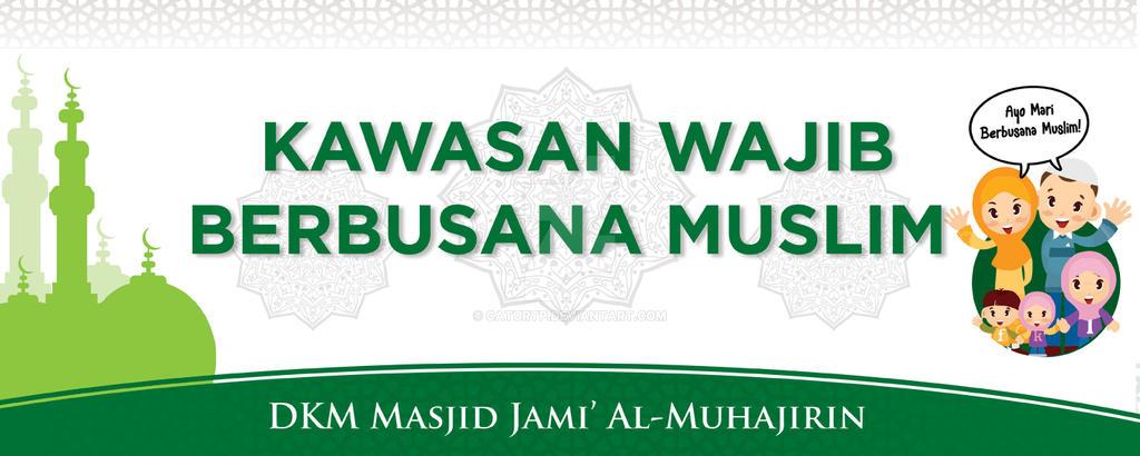 Banner Baju Muslim - Voal Motif