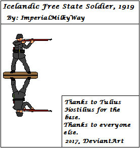 Icelandic Free State Soldier, 1919 by anthonyjason15