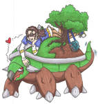 PT me and Torterra - colored