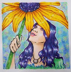 Black-eyed Susan Flower Girl by Doodlebotbop
