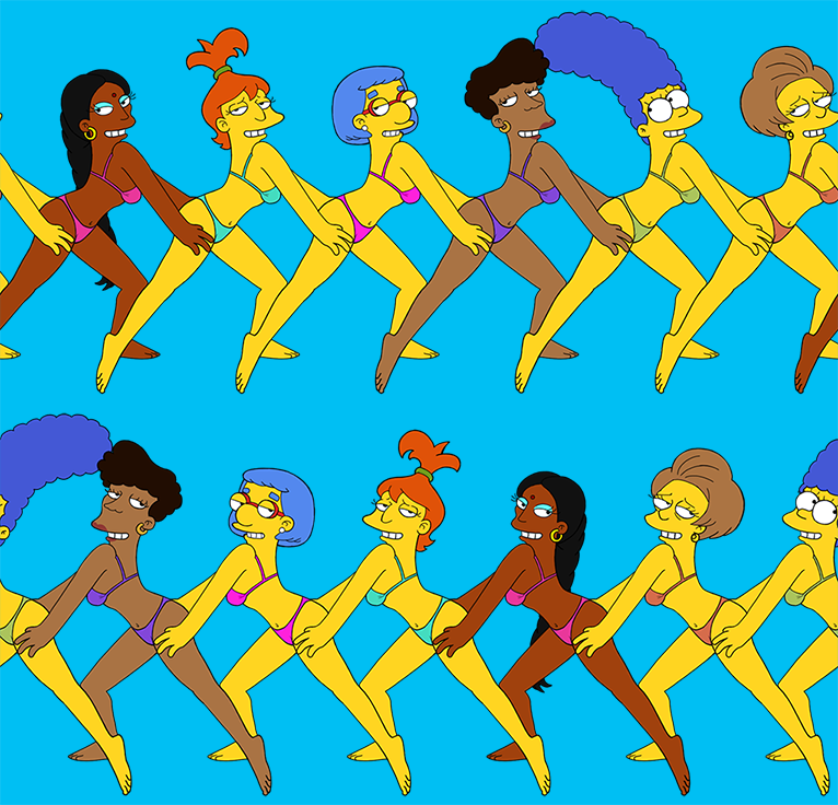 The simpsons conga line wallpaper by chesty larue art on - Les simpson tout nu ...