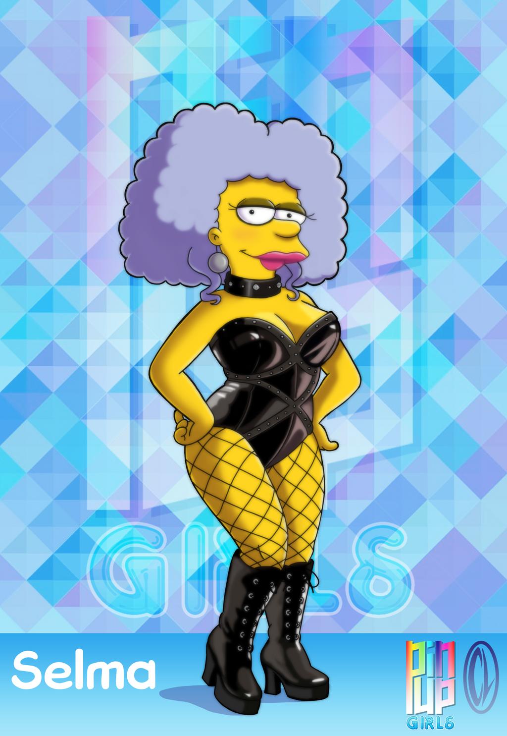 Pinup girls selma bouvier by chesty larue art on deviantart - Marge simpson nud ...