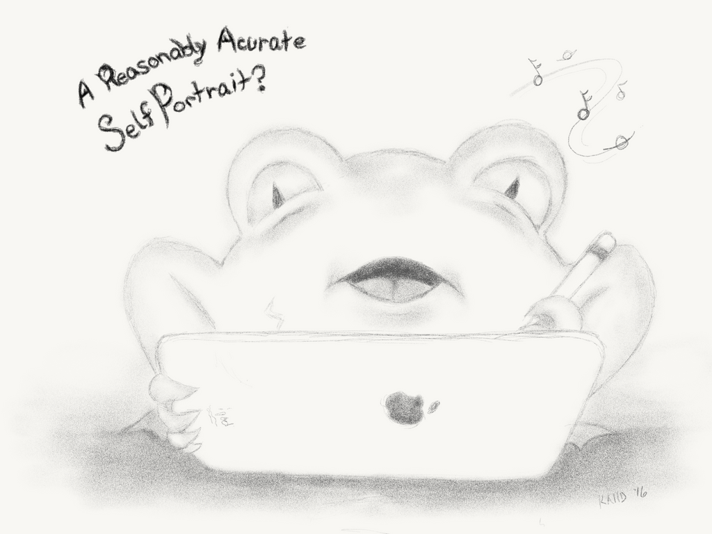 Self Portrait Frog by gusdefrog