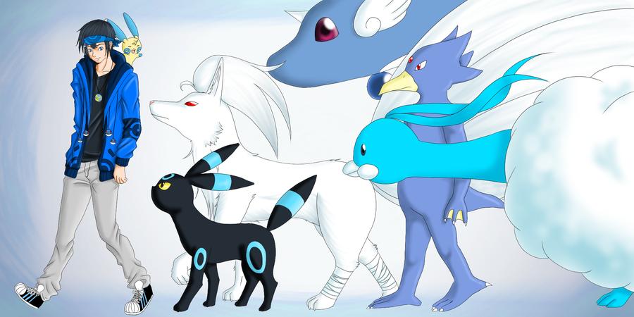 Nick e seus pokemons       New Version XD by ninhofontes
