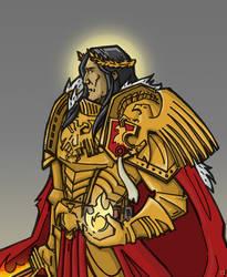 Warhammer 40k sketches - Emperor of Mankind by LAAMDT