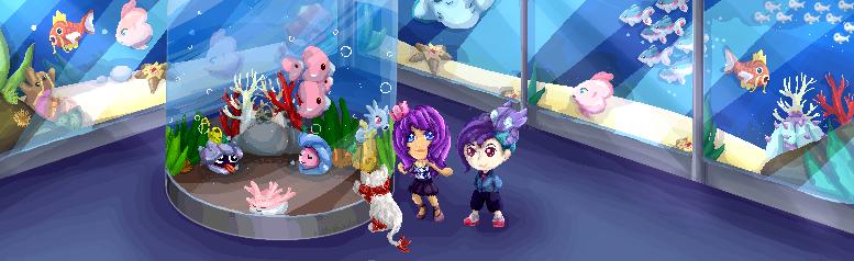 AA: pixel visita al Mueso y Aquario by kittyshadow