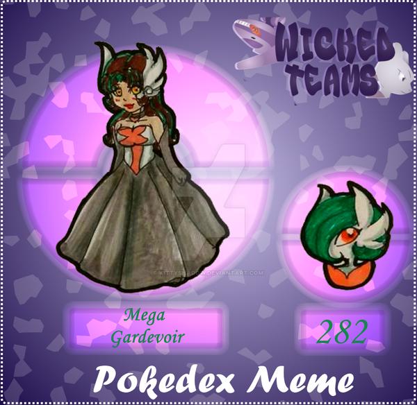 WT: pokedex meme 282 MegaGardevoir by kittyshadow