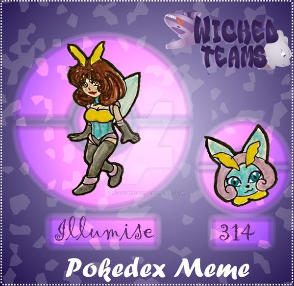 WT: pokedex meme 314 Illumise by kittyshadow