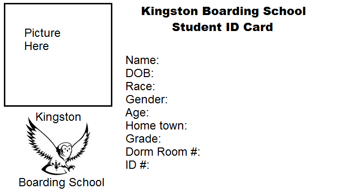 KBS Student ID Card Template By Magpops On DeviantArt - Card template free: blank id card template